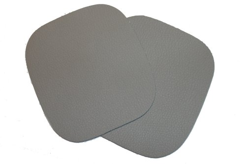 dalipo 05006 - Bügelflicken, Kunstleder, ca. 10,8x9,8cm, grau