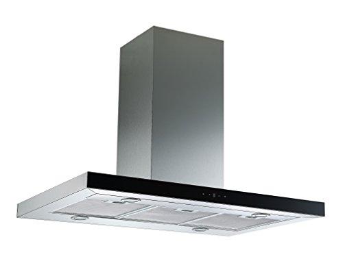 Respekta Inselhaube Dunstabzugshaube Edelstahl, Glasfront & Touch Control, 90 cm CH 44099 GISA