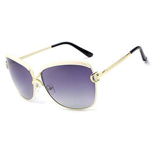 Zhongke Sonnenbrillen polarisierte Frauen übergroßen Retro großen Rahmen UV-Schutz Damen Eyewear