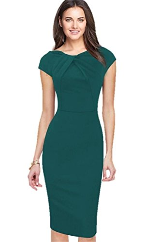 KingField - Robe - Crayon - Manches Courtes - Femme Vert