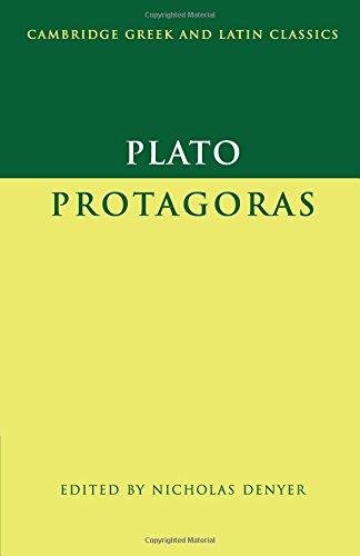 Plato: <I>Protagoras</I> (Cambridge Greek and Latin Classics)