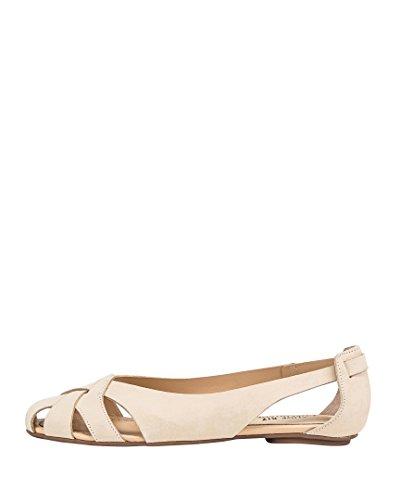 Shoe Biz Damen Sandal Flat Geschlossene Keilabsatz Beige