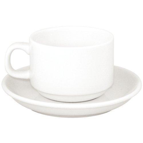 Athena Hotelware CC202Untertasse, weiß (24Stück) Eine Untertasse