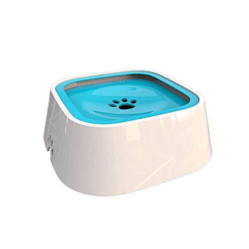 ZPYHJS Wassernapf für Hunde, spritzwasserfreie Hundenäpfe mit antibakteriellem Material, Wassernapf für Hunde, Katzen und Haustiere @ Blue