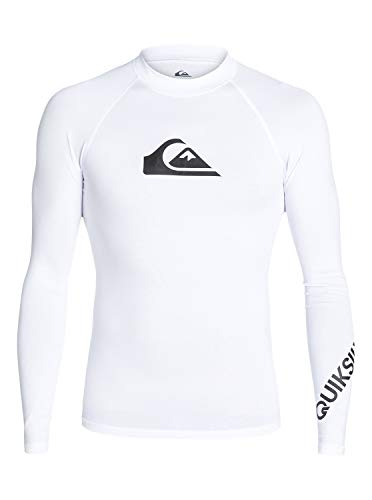 Quiksilver Herren All Time L/sl Surf Tee, White, L