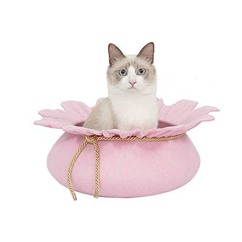 WYBZD Mascotas Perro Gato Cama Forma De Flor Nido