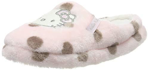 Hello Kitty Elvis Damen Ladies Casual Houseshoes Pancake/Mule Pantoffeln, Light Pink, 35 EU
