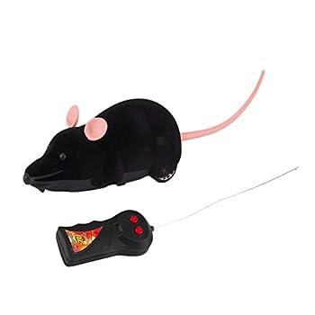 ROSENICE Mini Souris à Télécommande avec Télécommande pour Chats Chien Animaux (Noir)