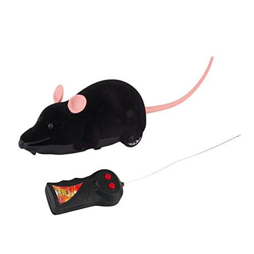 rosenice Electronic Fernbedienung Ratte Plüsch Maus Spielzeug für Katze Hund Kid (schwarz)
