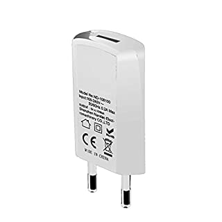 OAONAN USB Handy Ladegerät Ultra Dünn USB Netzteil Tragbares Ladegerät für iPhone, iPad, Samsung Galaxy, Nexus, HTC, Motorola, LG Und Weitere (Weiß)