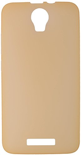 GoRogue Frosted Glowing Ultra Slim Soft Flexible TPU Back Case Cover For Micromax Canvas Juice 2 AQ5001 (Gold)  available at amazon for Rs.149
