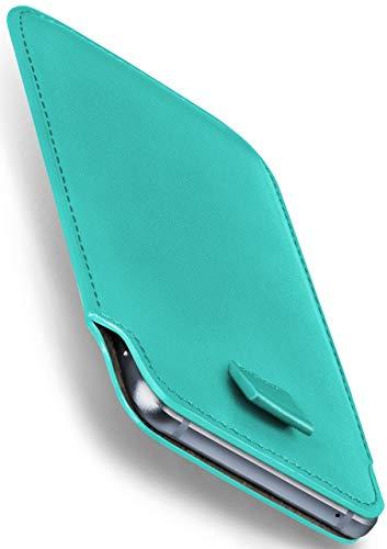 moex Emporia Eco | Hülle Türkis Sleeve Slide Cover Ultra-Slim Schutzhülle Dünn Handyhülle für Emporia Eco C160 Case Full Body Handytasche Kunst-Leder Tasche