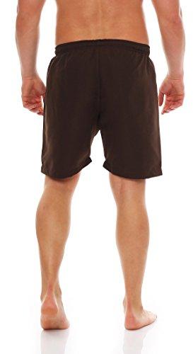 Gennadi Hoppe Herren Badeshorts Badehose Beach Shorts Schwimmshort Braun