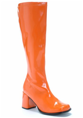 Club Kostüm Großhandel - Ellie Shoes Orange Gogo Boots Size 8