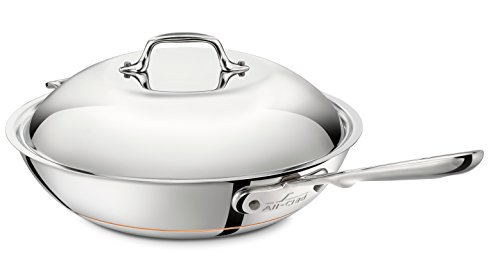 All-Clad 6412SS EURO Copper-Core Wok-Pfanne mit Deckel
