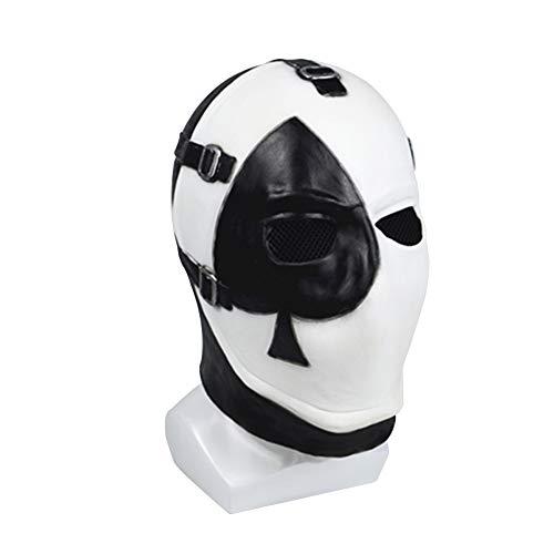 Vercico Máscara de póquer cuadrada para carnaval, Navidad, Halloween