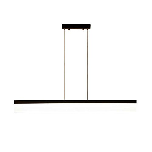 Schwarzes Quadrat Post (Post-moderne minimalistische rechteckige LED-Kronleuchter, schwarz Kronleuchter Art und Weise großzügig , Wohnzimmer, Schlafzimmer, Arbeitszimmer)