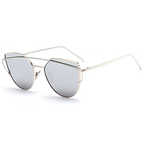 Botetrade Nuova Donne del metallo di modo annata cornice dello specchio degli occhiali da sole unico piano degli occhiali da sole UV400 C6