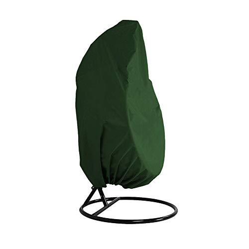 Abdeckhauben Gartenmöbel Abdeckungen Regenschutz Outdoor Schaukel Hängesessel Eierschale Staubschutz Rattan Schaukel Garten Blume Stuhl (Color : Green)