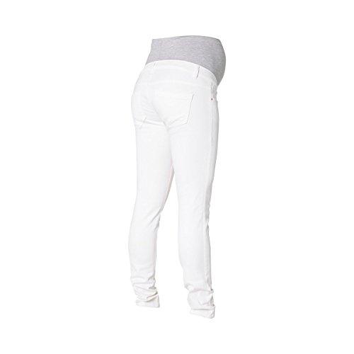 MAMA LICIOUS® Le jean de grossesse pantalon de grossesse pantalon de grossesse Blanc