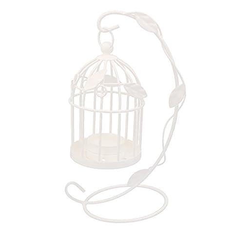 Bougeoir Support de Bougie Design de Cage à Oiseaux Suspendue