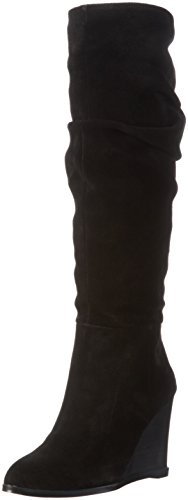 french-connection-damen-chevron-langschaft-schlupfstiefel-schwarz-black-001-38-eu