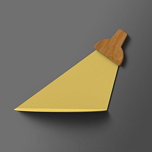 Geometrische Drei-licht-anhänger (Wandregal / Licht und Schatten Wandbehang / Wand Eisen Balkonregal / Wandlampenständer / Büro Regal / Wandregal / Rack / drei Farben optional / (40 * 23 * 12cm) ( Farbe : Gelb ))