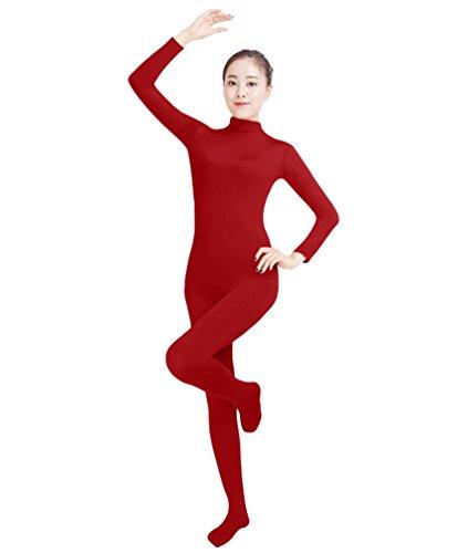 NiSeng Erwachsener und Kind Ganzkörperanzug Anzug Kostüm Ganzkörperanzug Halloween Kostüme WeinRot S
