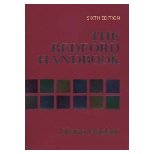 The Bedford Handbook by Diana Hacker (2001-11-26)