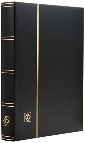 Preisvergleich Produktbild Briefmarken Einsteckbuch BASIC, 64 schwarze Seiten, Einband unwattiert in Schwarz, DIN A4