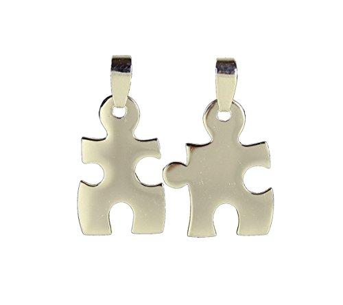 HAAC Amistad Colgante Puzzle Colgante Real Plata 925