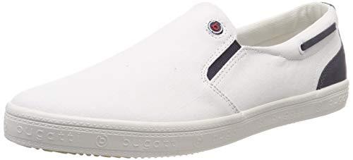 bugatti Herren 321719606900 Slip On Sneaker, Weiß, 46 EU