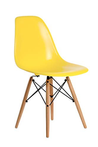 Silla Eames replica amarilla