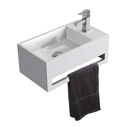 KKR Mineralguss Waschbecken für Gästebadezimmer, Oberfläche:Glänzend