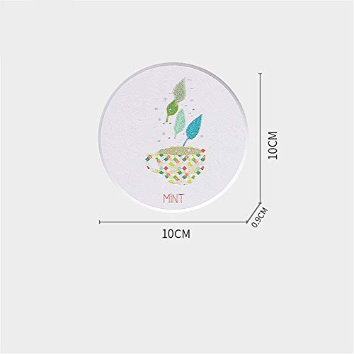 ZCHPDD Diatomaceous Earth Absorbent Pad Coaster Nordic Creative Moisture-Proof Insulation Pad Table Mat Art Style Cup Green Leaf 10 * 10Cm*2Pcs -