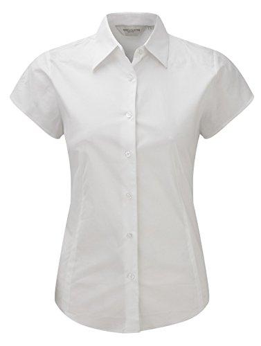 Z947F Stretchy Bluse Kurzarm, Farbe:WHITE;Größen:L