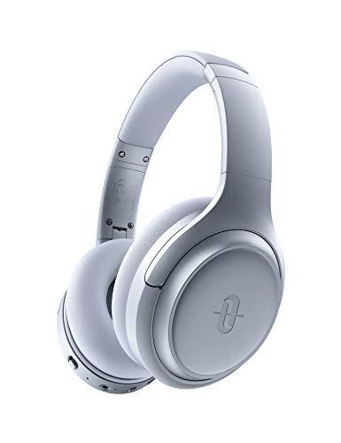 TaoTronics Active Noise Cancelling Bluetooth 5.0 Kopfhörer, Tiefer Bass mit CVC Geräuschunterdrückendes Mikrofon, 24 Std. Wiedergabedauer, Komfortable Ohrpolster für Reisen tragen (Silber)