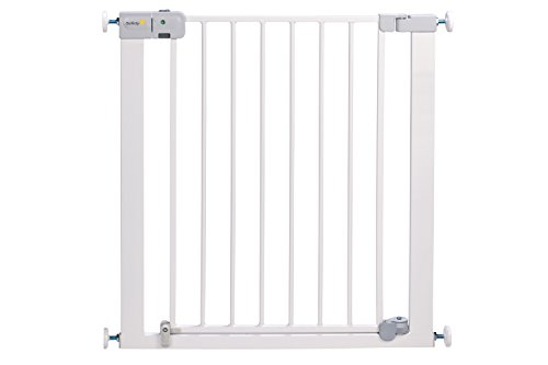 Safety 1st Auto Close - Barrera de puerta, de metal, color blanco