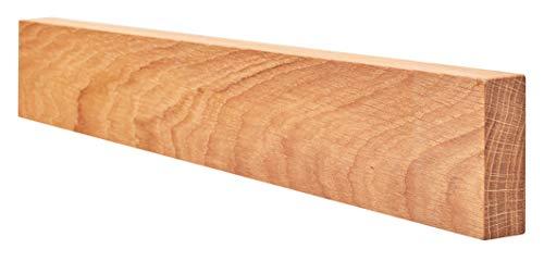 Wohnholz - magnetische Messerleiste selbstklebend ohne Bohren | Magnetleiste aus Holz für Küchen-Messer | handgefertigter Messerhalter aus Eichenholz mit durchgehenden Magneten (Magnet Messer Holz)