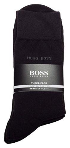 Hugo Boss calze da uomo Business Allround Three Pack RS SP 502741573paia nero 43/46