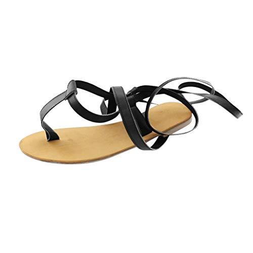 Wind Göttin Kostüm - Frauen Gladiator Sandalen Flache, Sommer Riemchen Schnüren Offene Zehe Kniehohe Flache Sandale Roman Wind Riemen Toe Flache Sandalen