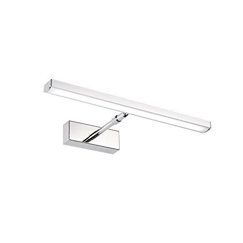 AUFUN 7W LED Spiegellampen Spiegelleuchte Spiegelschrank Wandlampe Bad-Beleuchtung Einfache moderne Edelstahl Acryl Wasserdicht IP44, 360 Grad Rotation,Länge 39cm
