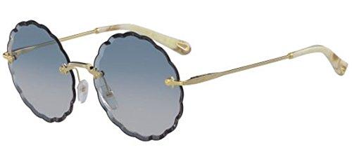 Chloé occhiali da sole rosie ce142s gold/blue shaded donna