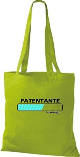 Jute Stoffbeutel Patentante Loading viele Farben lime
