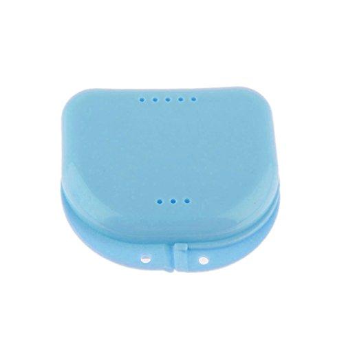 Zahnschutz Doppel-Mundschutz Container mit Luftloch - Blau