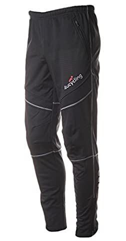 4ucycling Mens Windstopper Casual Outdoor and Multi Sporting Pants Fleeced L
