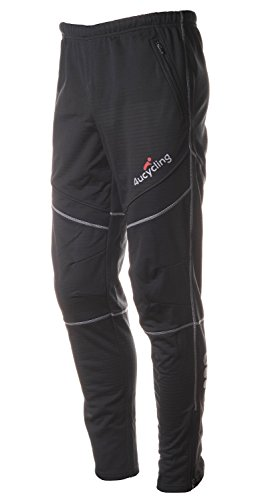 4Ucycling lang Fahrrad Hose Winddicht Thermo Fleece Radhose Laufhose Winter