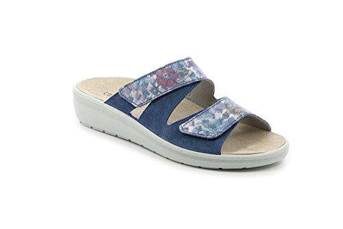 GRÜNLAND Daby, Pantofole Aperte sul Retro Donna Jeans