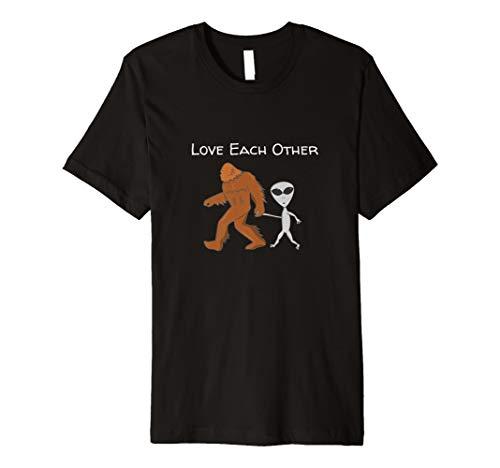 Keine Diskriminierung Hate Anti Rassismus T shirts- Alien Bigfoot