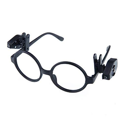 Vikenner Clip LED Flexible en luz de Lectura de Mini Libro Lámpara de Noche LED Ajustable para anteojos - Negro